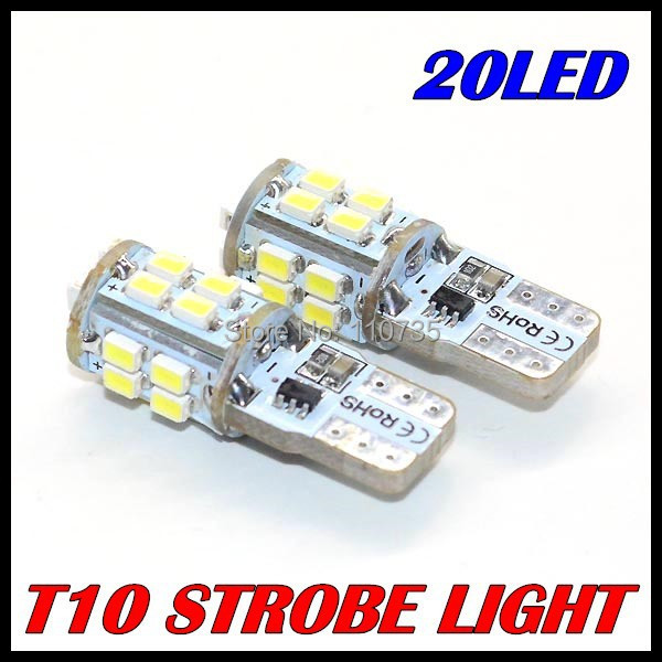 100PCS/LOT 2014 new products t10 Strobe flash w5w t10 20smd 1206 3020 20led smd white &amp; cheap car led Light Bulbs free shipping<br><br>Aliexpress