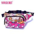 New Designer Waterproof Nylon Women Floral Waist Bum Camera Belt Bag Fanny Pack Hip Purse Money