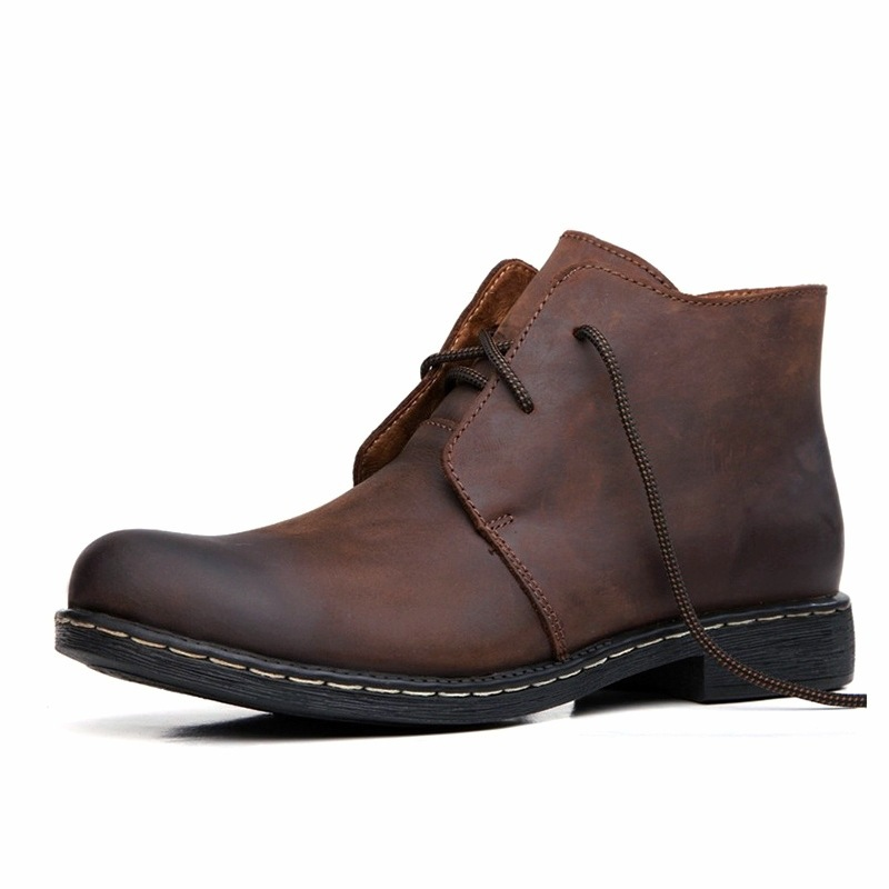 England Winter Men's Casual High Shoes Martin Leather Army Military Mens Suede Boots Wide - and clothes in the world store