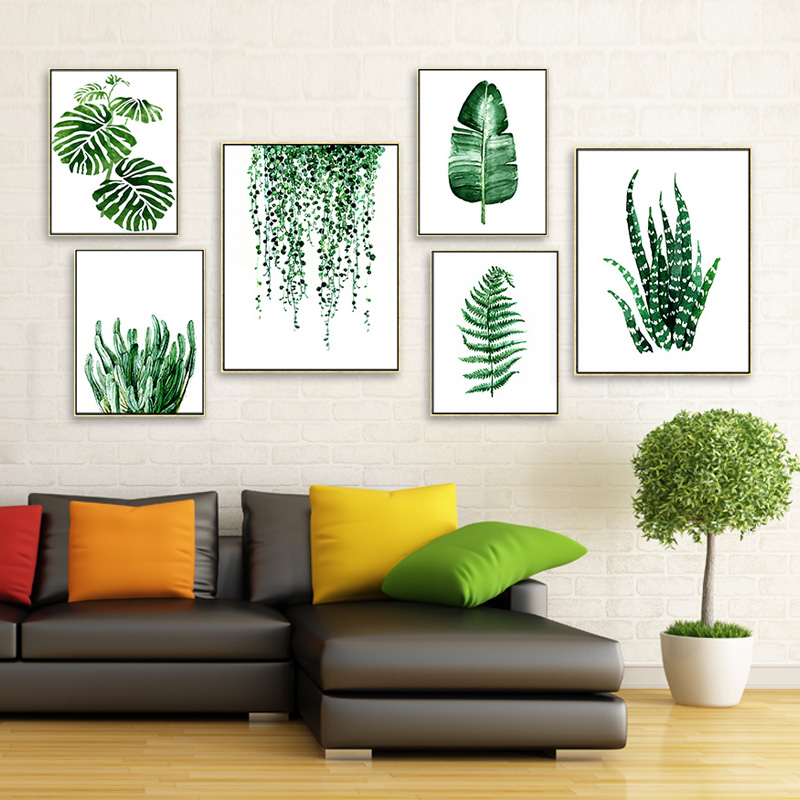 Modern Style Plant Wall Art Painting Canvas Art Picture Painting Print Posters Wall Pictures For Living Room Home Decor No Frame(China (Mainland))
