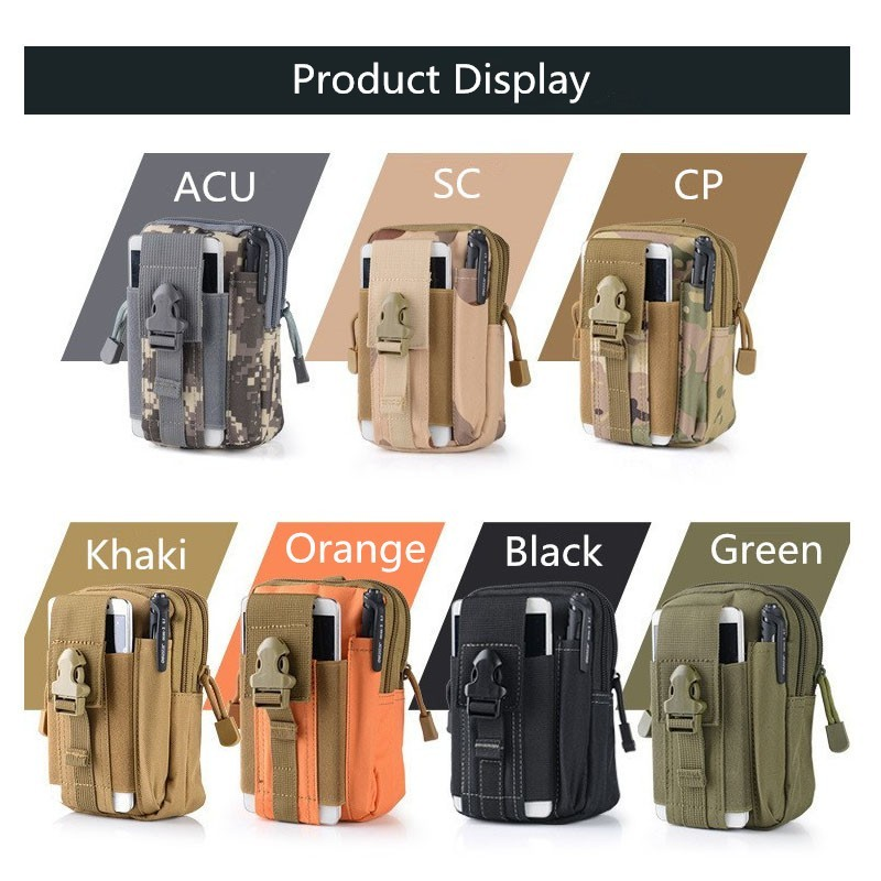 2016 Fashion Outdoor Tactical Holster Military Hip Waist Belt Spinning fabrics Bags Mobile Phone Case For C5 A8 A7 NEO J1/6S 5C