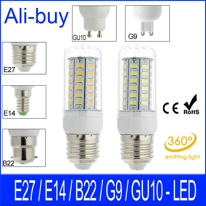 LED Bulb E27 E14 B22 G9 Gu10 LED Lamp Corn 220V 12W 10W 7W 6W 69LED 56LED 48LED SMD 5730 LED Ceiling Spot light With Box Ann(China (Mainland))