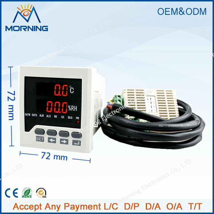WSK306 frame size 72*72mm LED Digital display Temperature and humidity Controller