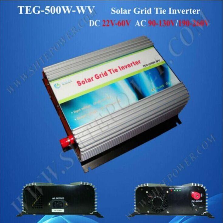 DC 24v 48v to AC 220v 230v solar inverter grid tie , 500w pv solar inverter with mppt(China (Mainland))
