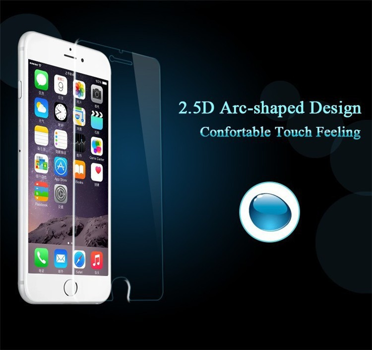 52.5D 0.3mm 9H Premium Tempered Glass iPhone 6 6s 4.7''/6 plus 5.5''/5S 5G 5C/4S 4G Screen Protector glass film