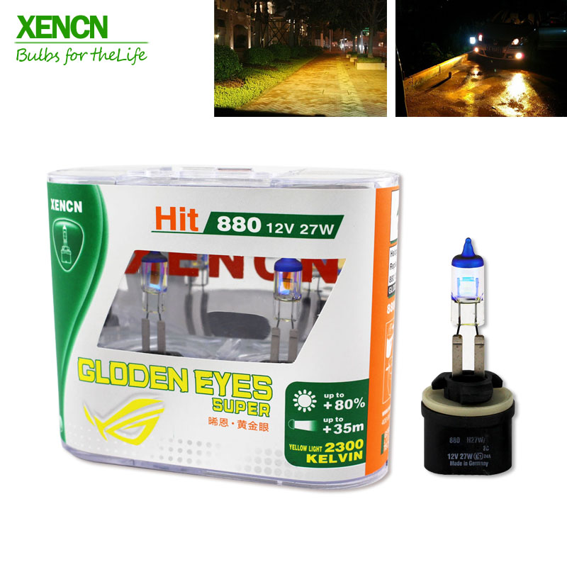 2pcs XENCN 880 12V 27W PG13 H27/1W 2300K Xenon Yellow Light Auto Bulb Fog Halogen Lamp Upgrade For Cadillac Chevrolet(China (Mainland))