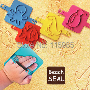 animal beach tool toys sand painting Sand Pit Beach Toy Set draw pretend play Educational Children Kids baby Free Ship - happy planet store