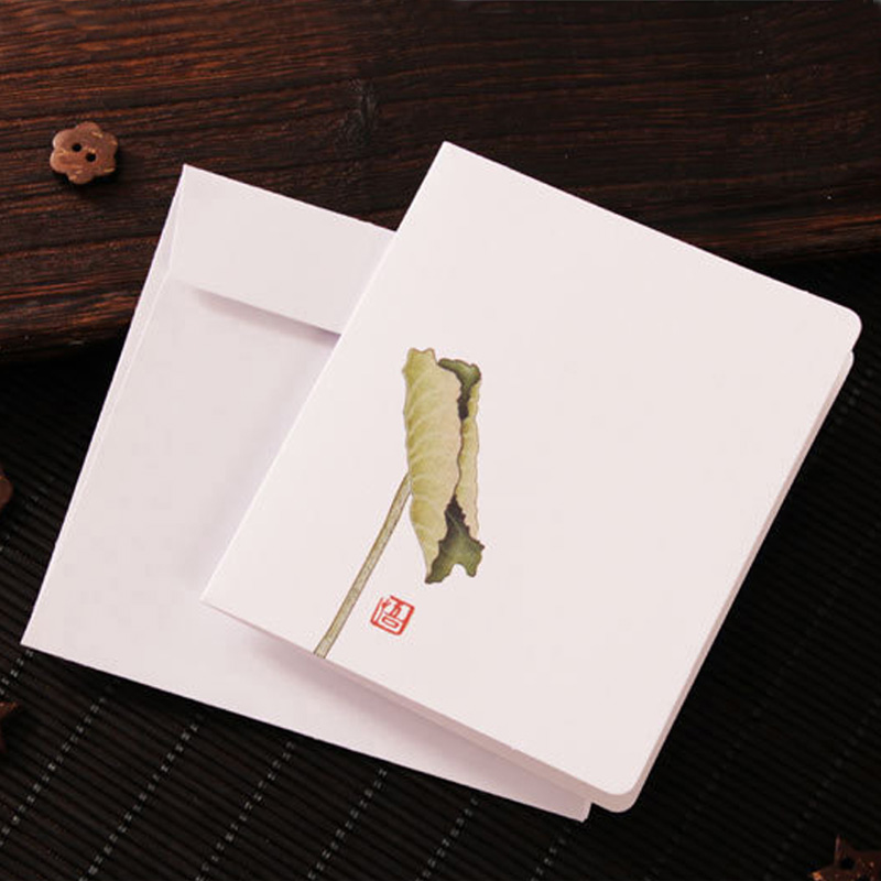 10pc vintage chinese paper floral business greeting cards small teacher holiday cheap selling lotus card with buy pc small business