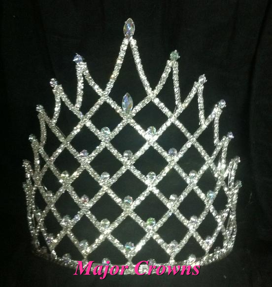 7 inches Tall All Crystal Crowns Factory Wholesale Beauty Pageant Tiaras AL225(China (Mainland))