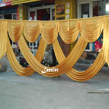 6M Elegant Swags/Drape for wedding decoration