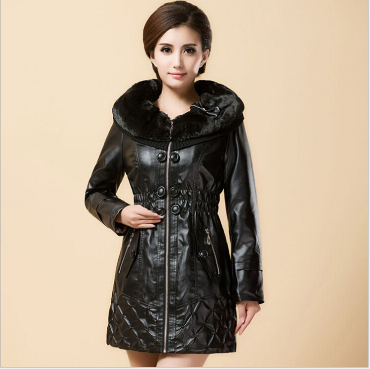 autumn winter women slim-fitting Thicken keep warm genuine leather jacket Trench coat women motorcycle leather jacket plus sizeОдежда и ак�е��уары<br><br><br>Aliexpress