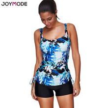 JOYMODE 2017 Women Swimsuit Colored Print Tankini Swimwear Wireless Straps Beach Bathing Suit 3XL Plus Size Swim Suit(China (Mainland))