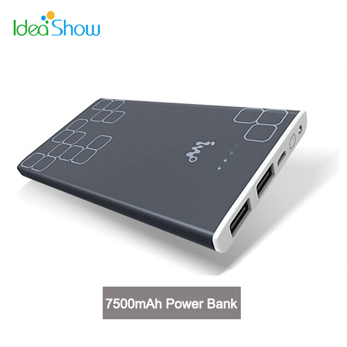IWO P32 7500mAh USB External Backup Powers Battery Power Bank Mobile Phone Chargers for Huawei Samsung Tablet PC iPhone iPad(China (Mainland))