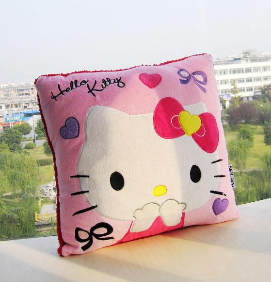 Hello Kitty adorable stuffed plush Pillow TOY Best price Cushion Doll 1pcs hot sale(China (Mainland))