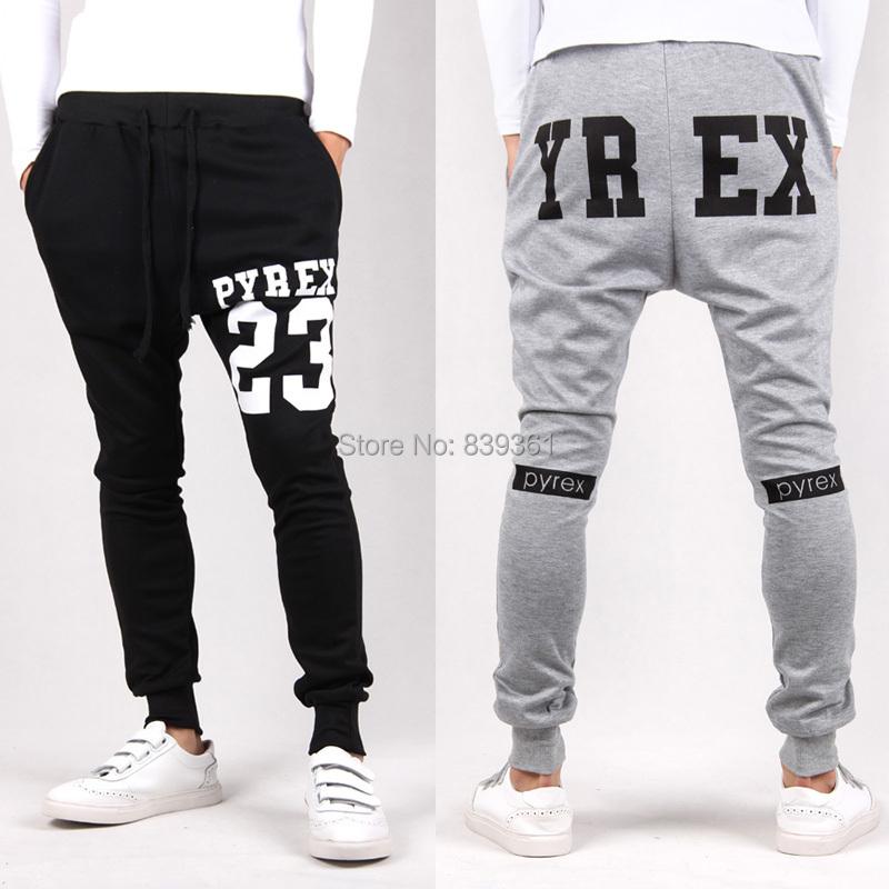 Brand Pyrex Cargo Pants Hip Hop Harem Pants Drop Crotch Pants Men Black Bandana Joggers Skinny Sports Gym Bottoms(China (Mainland))