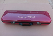 new red color 4/4 Violin case Glass Fiber Soft Imitate Leather Pink White Black #GF27(China (Mainland))