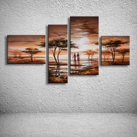 handmade oil painting on canvas modern Africa Landscape Painting  Best Art oil painting original directly from artist  AR-015