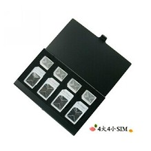 100PCS Aluminum Memory Card Holder Card Case SIM CARD CASE(China (Mainland))