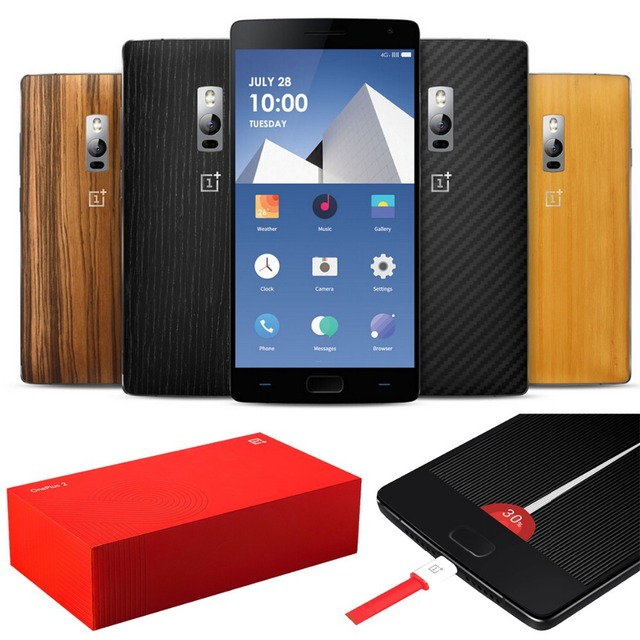 Original OnePlus Two 2 4GB RAM 64GB ROM 4G LTE Snapdragon 810 Octa Core Fingerprint ID 5.5'' 1920*1080P 13MP Cell Mobile Phone