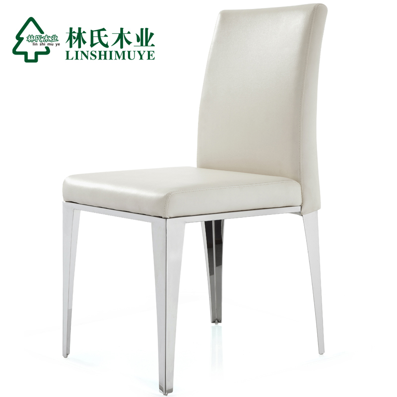 lin wood leather dining chairs modern minimalist stainless