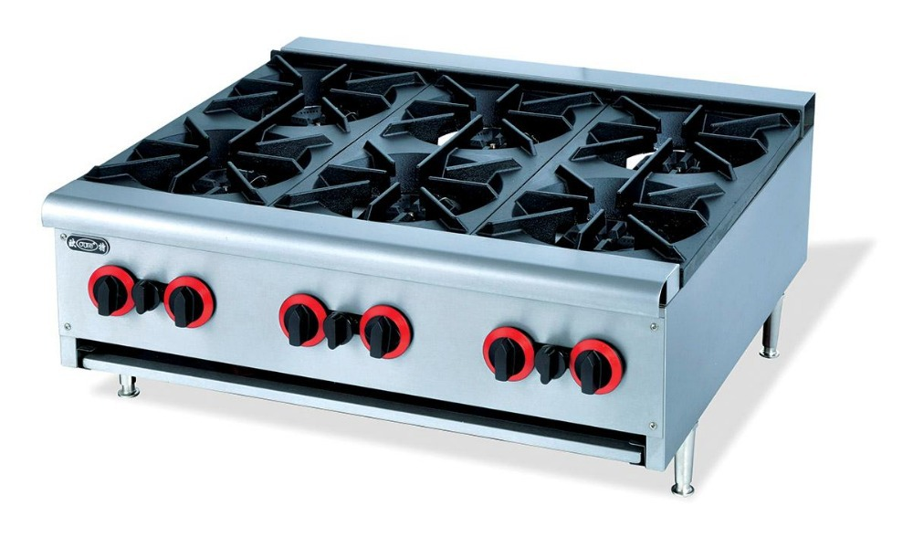 Countertop Gas Burner : Counter top 6 burner multi cooker gas stove cast iron six burners gas ...