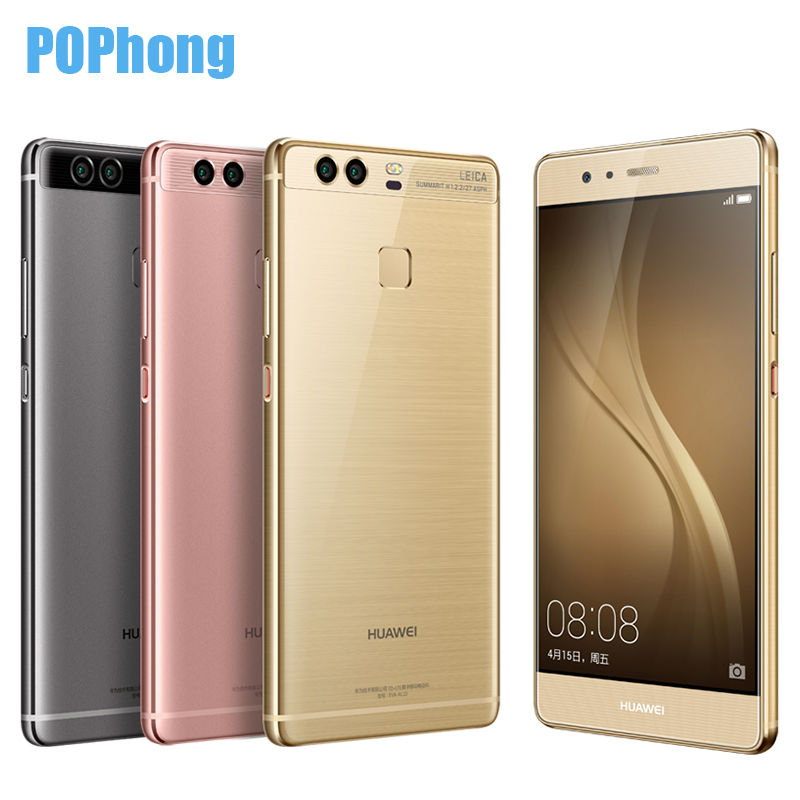"2016 NEW Original Huawei P9 5.2"" Fingerprint Mobile Phone 12MP*2 Hisilicon Kirin 955 Octa Core 3GB/4GB RAM 32GB/64GB ROM Type-C(China (Mainland))"