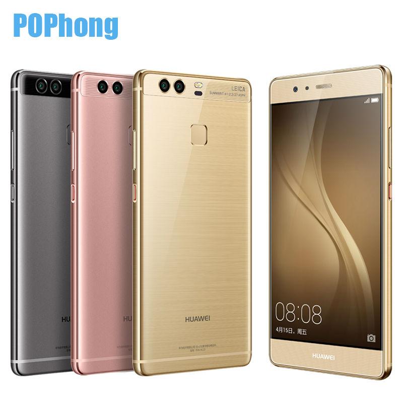 "International Firmware Huawei P9 5.2"" Fingerprint Mobile Phone 12MP*2 Hisilicon Kirin 955 Octa Core 3GB/4GB RAM 32GB/64GB ROM(China (Mainland))"