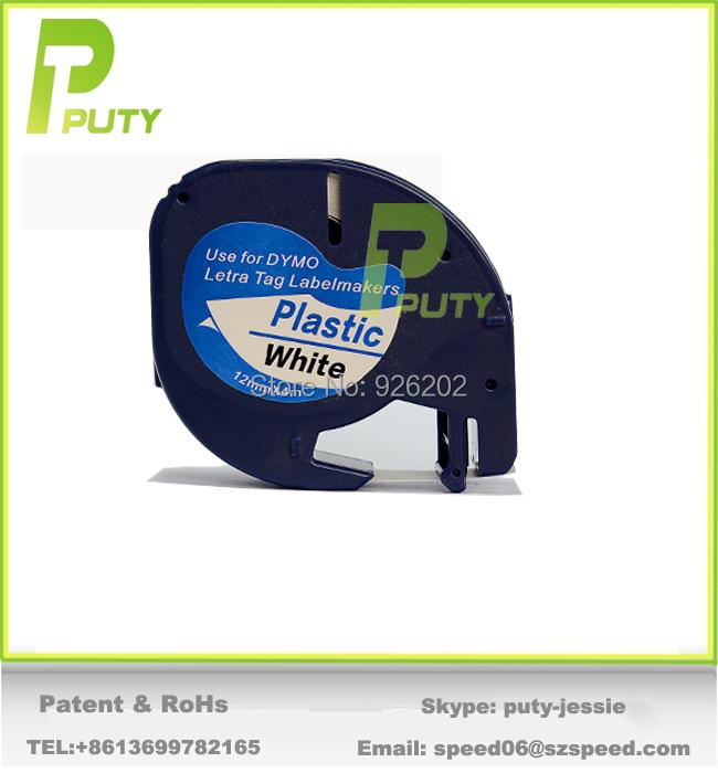 Лента для печатающего устройства PUTY Dymo Dymo LetraTag 91201 12 4 m 1/2 w 13' лента для печатающего устройства puty 2pk mk231 p touch m k231 mk 231 pt m k231