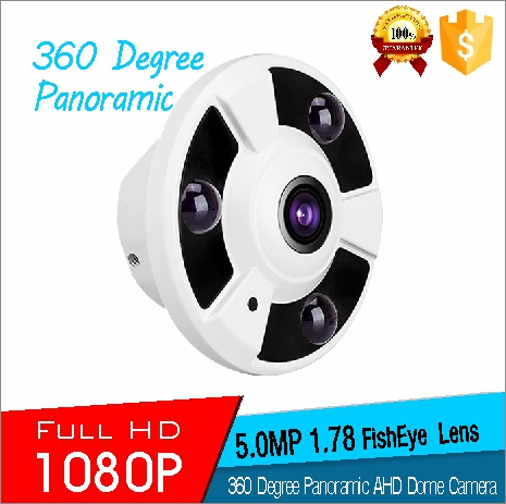 360 Degree Panoramic CCTV Camera Fisheyes 5.0MP 1.78mm Fixed Lens FishEye 1080P 360 Degree Panoramic AHD Color IR Dome Camera(China (Mainland))