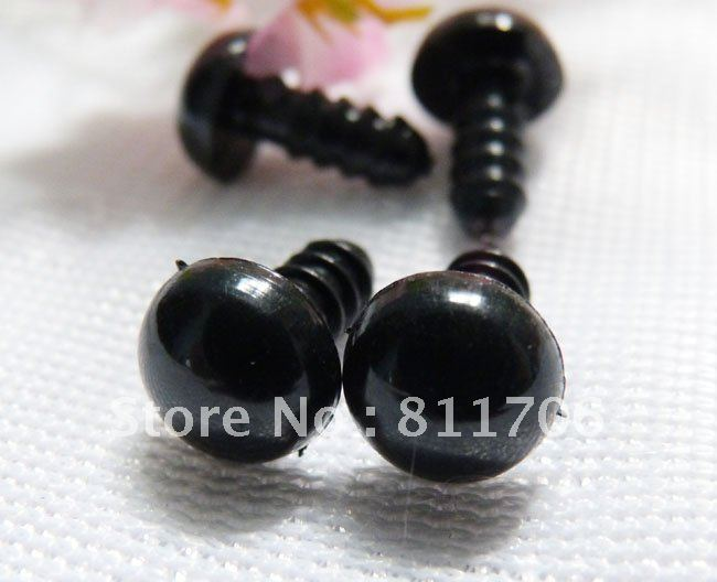 doll accessories black safety plastic 10MM toy eye for bear toy+washers/500PCS/#jd