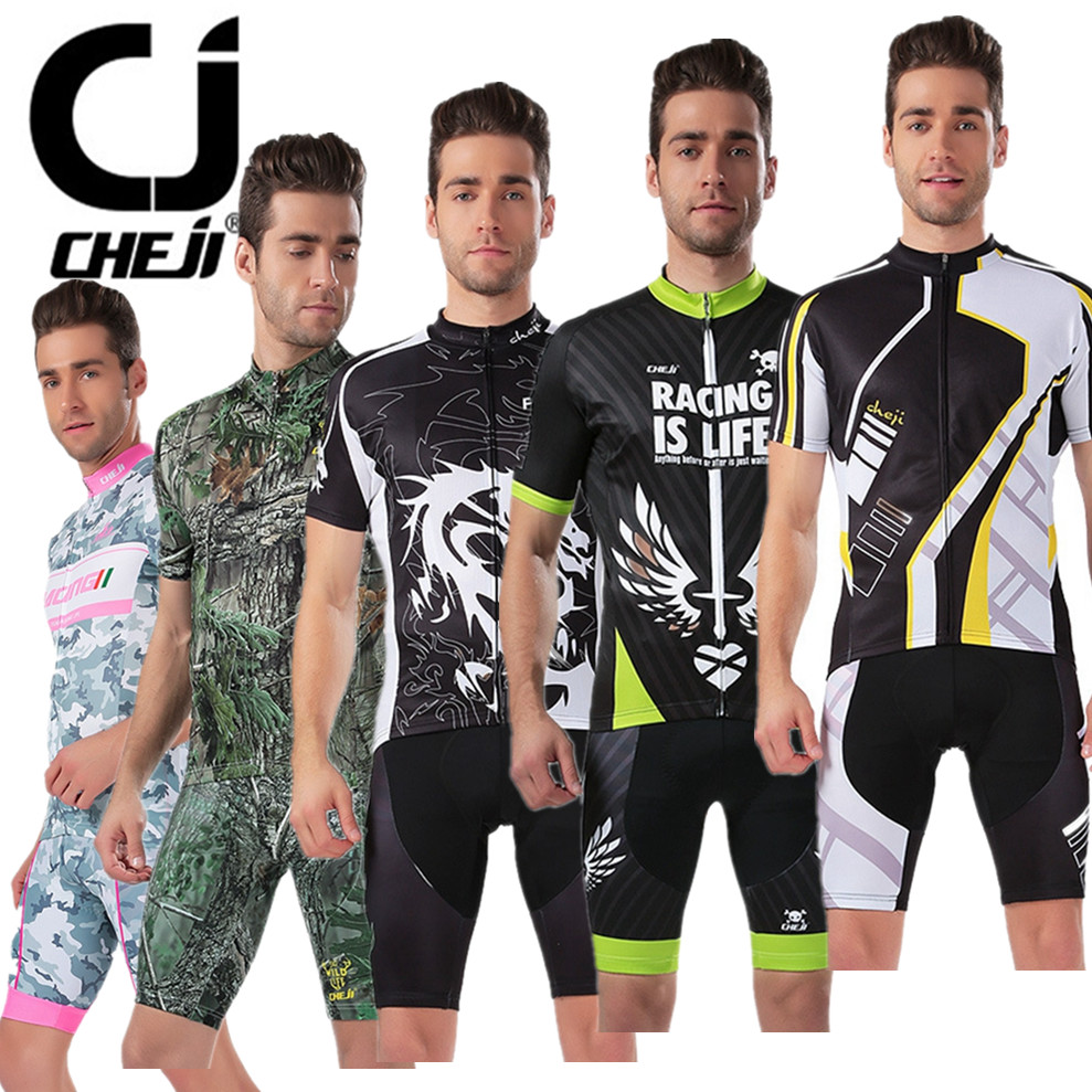 2016 CHEJI Bike Jerseys shorts set Cycling jerseys /Ropa Ciclismo Cycling Clothing Quick-Dry Bicycle Sportswear