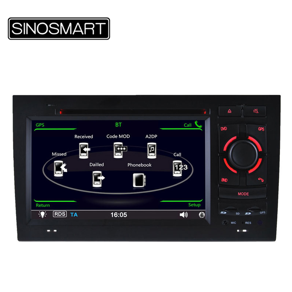 Keep car original style user interface car DVD GPS for Audi A4/R4/RS4 800MHz CPU 256M DDR RAM Support 1080P vedio play(Hong Kong)