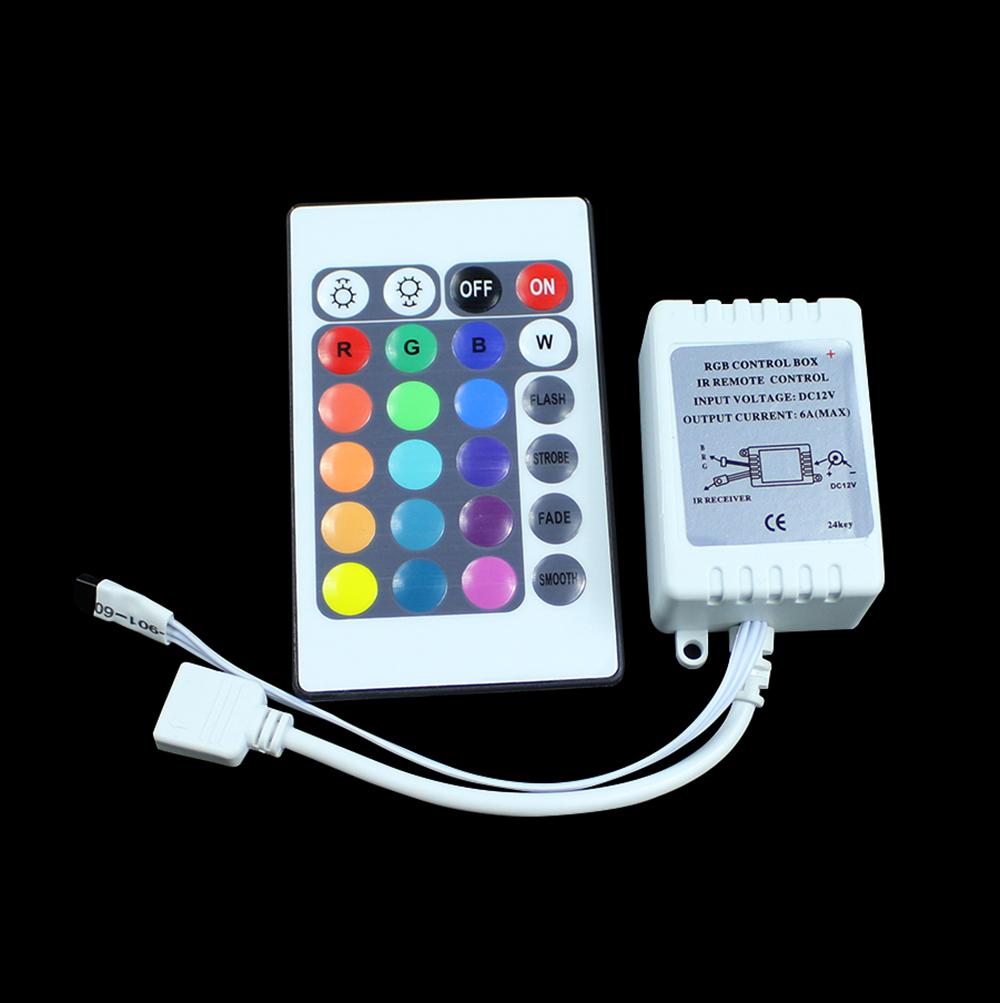 12V 24 Key Wireless led IR Remote Controller For 3528 5050 RGB LED Strip Light free shipping(China (Mainland))