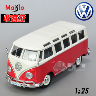 Vw classic bus alloy car model delicate model