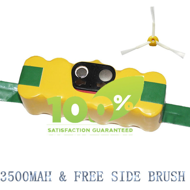 Free Shipping 3500mAh Battery for iRobot Roomba 500 600 700 780 790 With FREE Side Brush