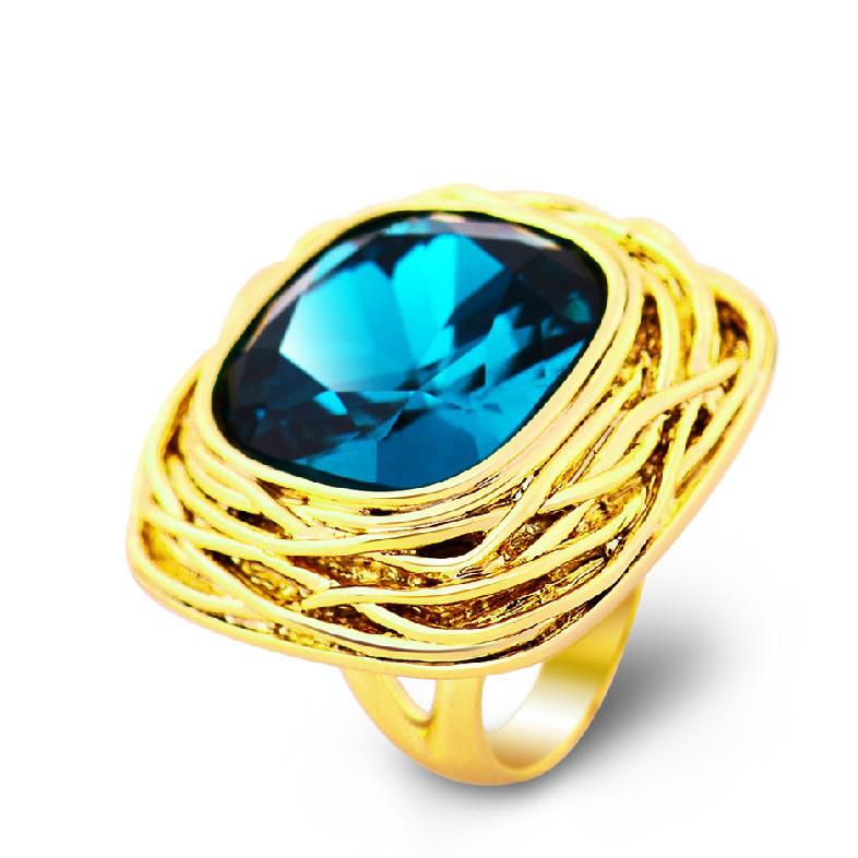 viennios fashion exaggeration index finger ring decorated
