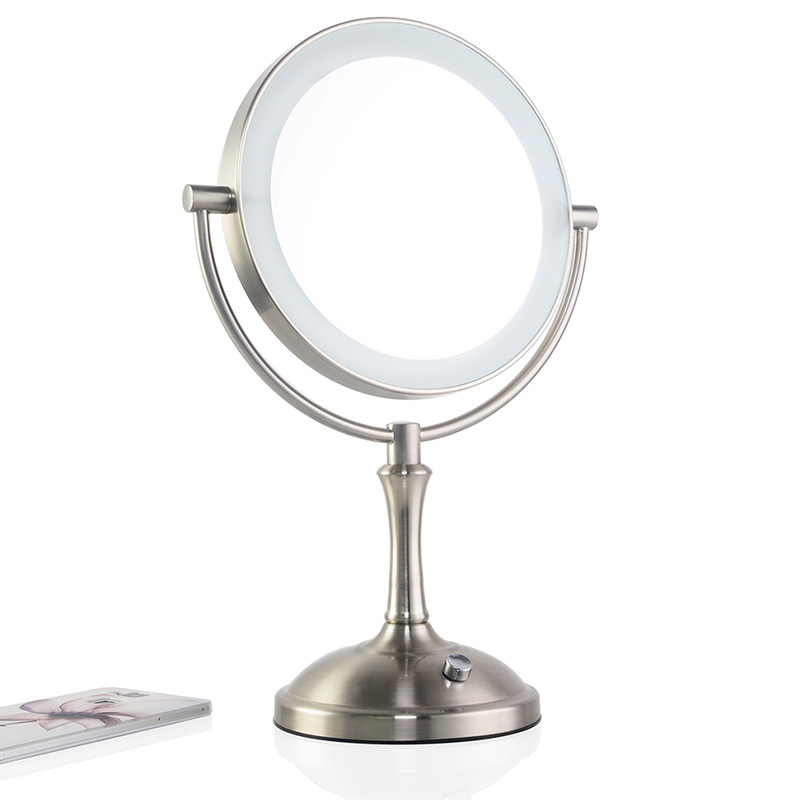 touch dimmer led makeup mirror lighted 3x magnifying mirror european. Black Bedroom Furniture Sets. Home Design Ideas