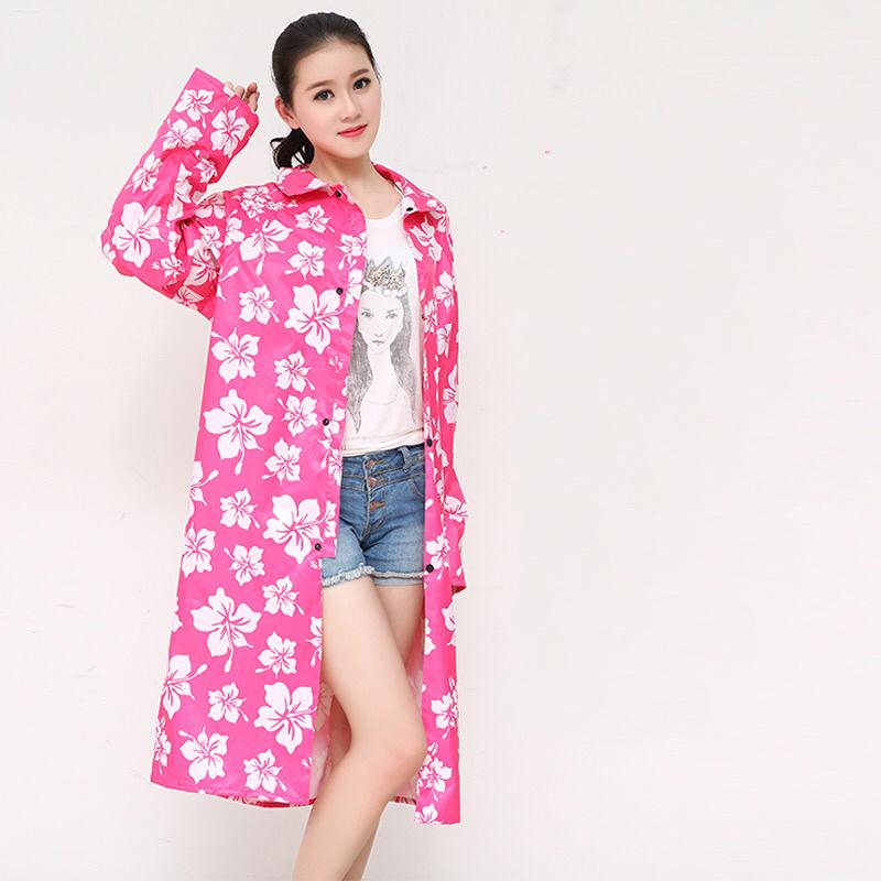 New Arrival fashional printing female raincoat Adults waterproof poncho outdoor hiking travel rainwear Free shipping(China (Mainland))