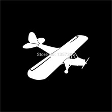 Wholesale 50 pcs/lot Radio Control Airplane Piper Cub Rc Sticker Car Window Vinyl Decal 9 Colors(China (Mainland))