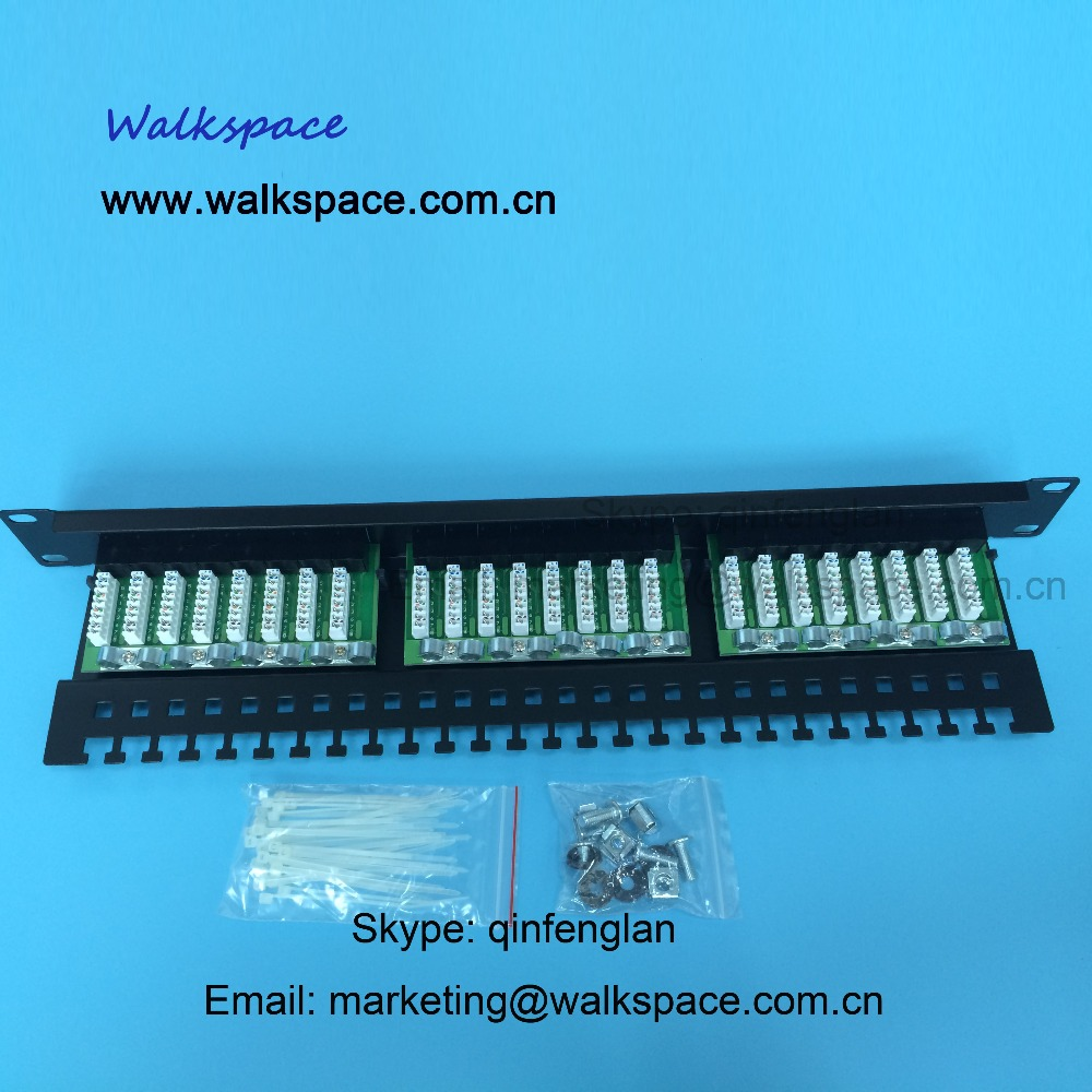 LED Patch Panel 24 Port Cat5e Fast Shipping