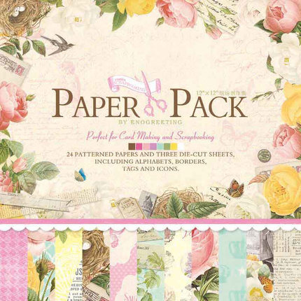 12 Colorful Flower Scrapbook