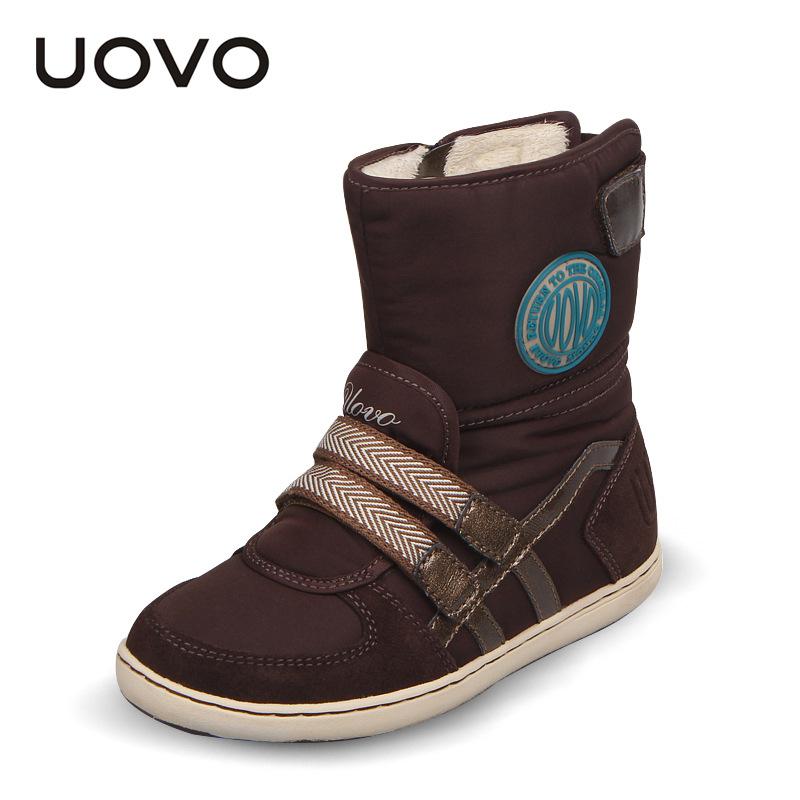 UOVO 2016 Winter Splash Waterproof Girls Boots Ski Cloth Warm Snow Boots Kids Boys,Fleece Children Shoes Girls Mother Daughter(China (Mainland))