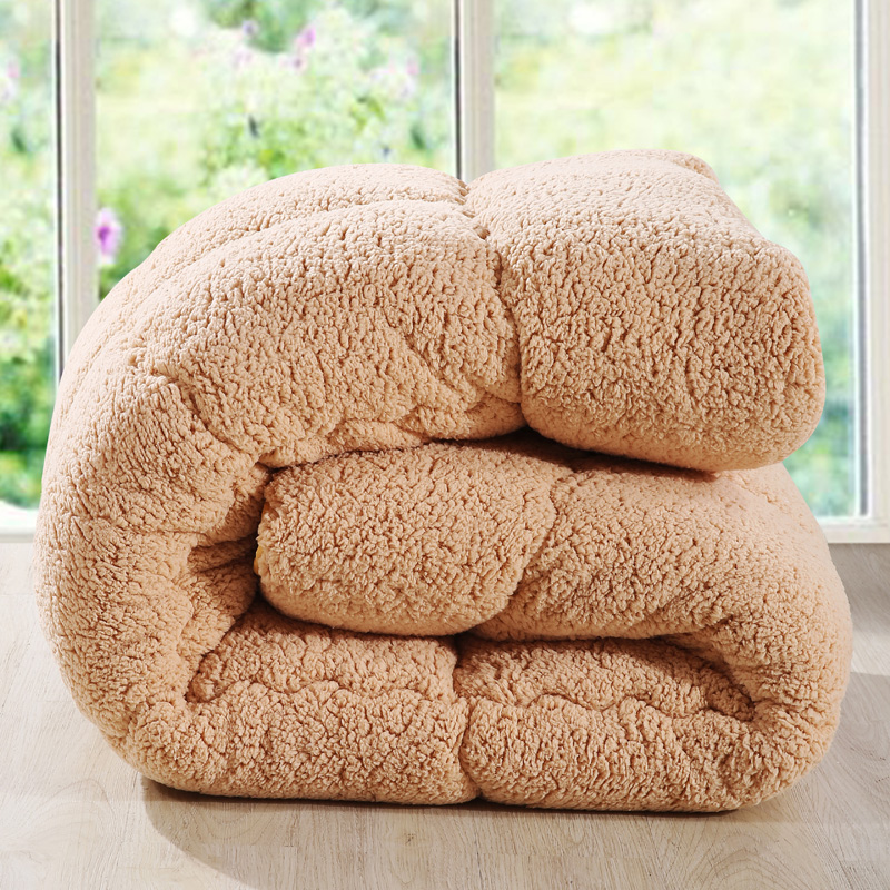 Camelhair super warm winter wool quilt comforter/duvet/blanket Lamb Down Fabric filling queen king size single double pink(China (Mainland))