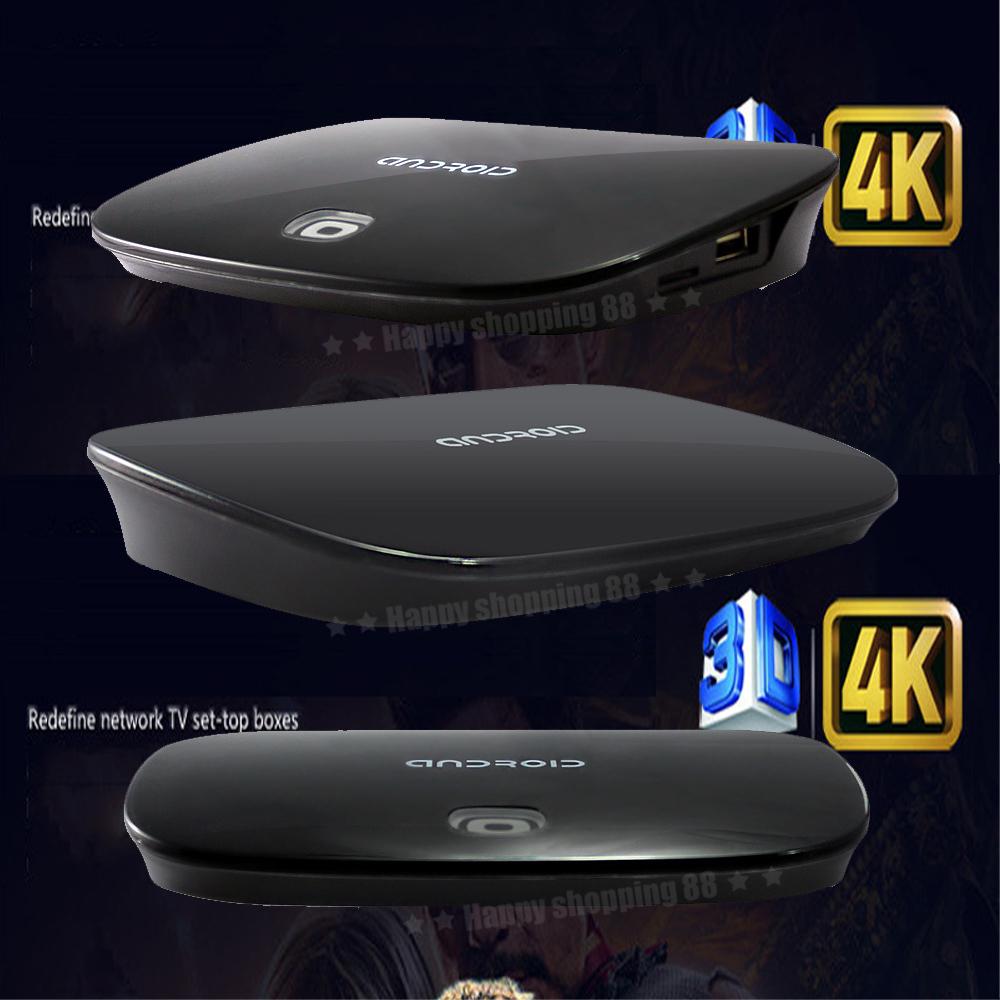 2014 Hot New Smart TV box Quad Core ARM Cortex-A9 Google Android 1GB DDR/8GB Flash 4P HDMI Mali 400 GPU Set Top Box 3D IPTV Box(China (Mainland))