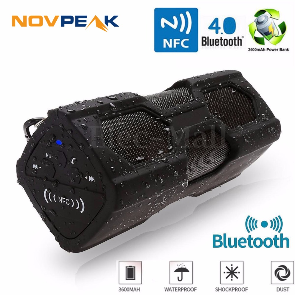 Portable Speaker Waterproof Wireless Bluetooth Speaker Soundbar Built in Battery Power Bank Support NFC TF SD Card(China (Mainland))