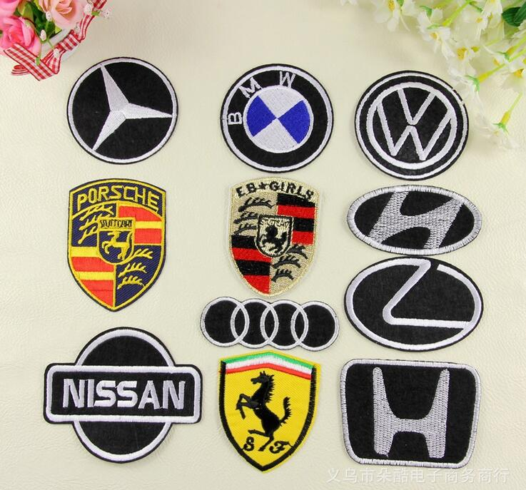 New Hot Large size Iron parches Cheap wholesale car trademark patches for clothing free shopping(China (Mainland))