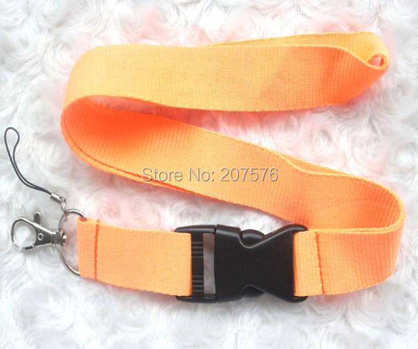 Free Shipping orange Blank plain Key Lanyard Phone Charm neck strap ch-6(China (Mainland))