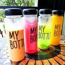 My sports bottle Water Bottle Portable 500ML Fruit lemon Juice Water Cup Transparent My Bottle Sports Travel Bottle(China (Mainland))