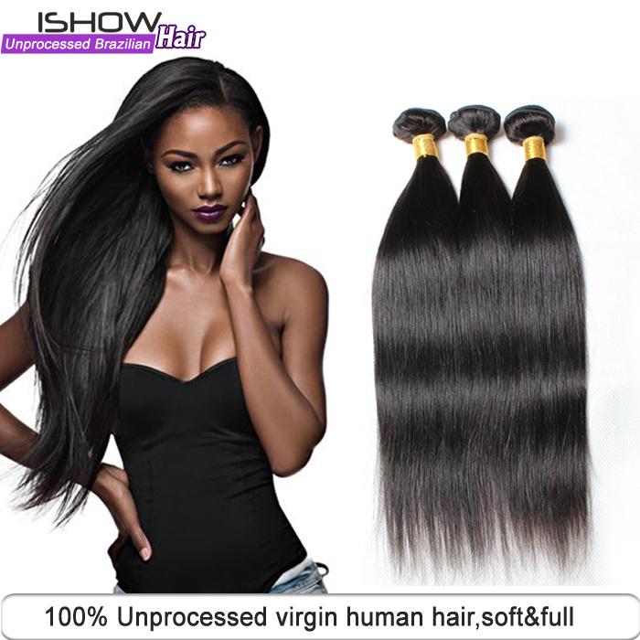 New Brazilian Virgin Hair Unprocessed 6A Brazilian Virgin Straight 3Pcs/lot Brazilian Virgin Hair China Human Hair Weave Bundles<br><br>Aliexpress