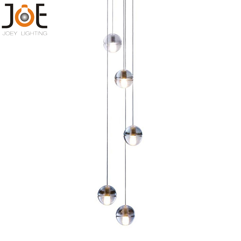 LED crystal pendant lights with 5 Meteor Shower Crystal ball Fixtures LED bulbs home Deco entry hallway Lamp light Free shipping(China (Mainland))
